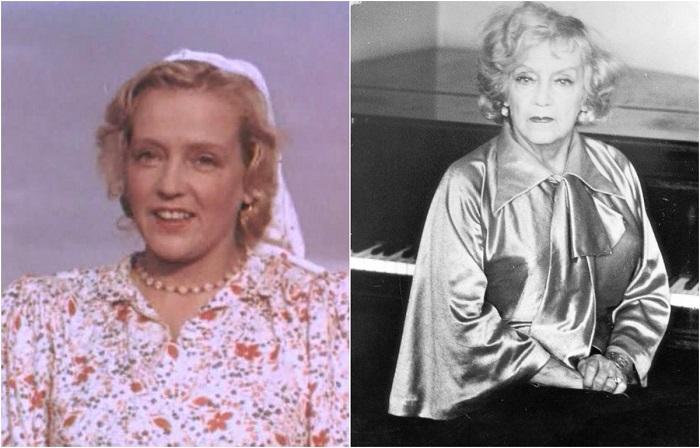 В музыкальной комедии «Кубанские казаки» актриса сыграла роль председателя колхоза Галину Ермолаевну Пересветову.