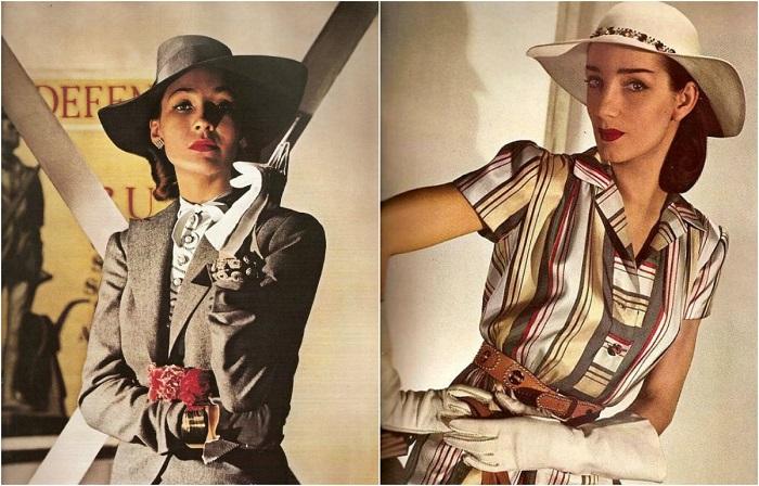 Гламурные фотографии из женских журналов от Луизы Даль-Вульф.