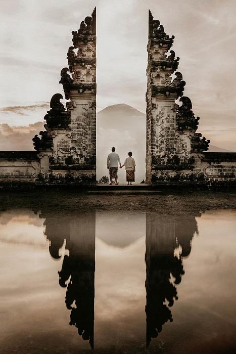 Союз двух любящих сердец, утвержденный на небе и на Земле. Автор фотографии: (Gary Even) Гэри Чет.