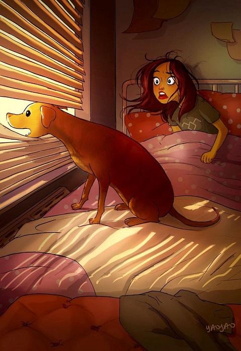 Звонкий утренний лай любимой собаки пробуждает надежнее любого будильника!