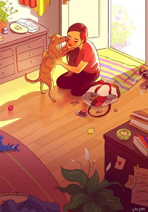 Один из ежедневных «ритуалов», знакомых практически каждому, у кого дома живет собака.