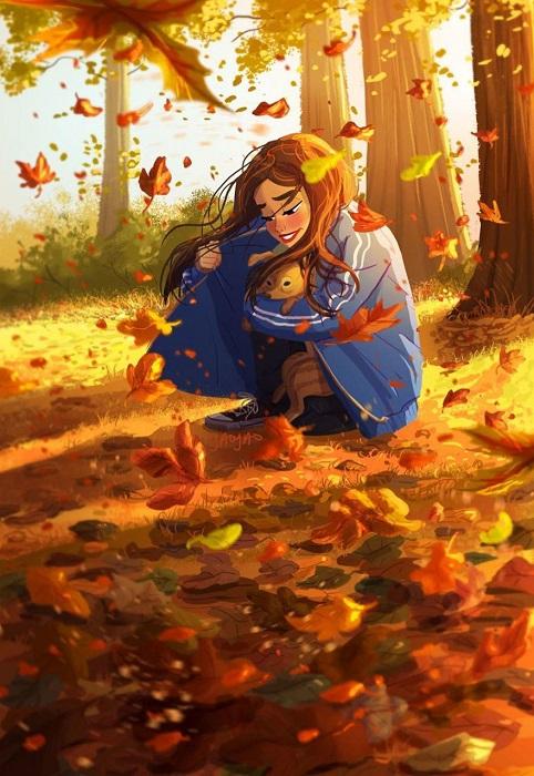 Любящая хозяйка – надежная защита от холода и осеннего ветра!