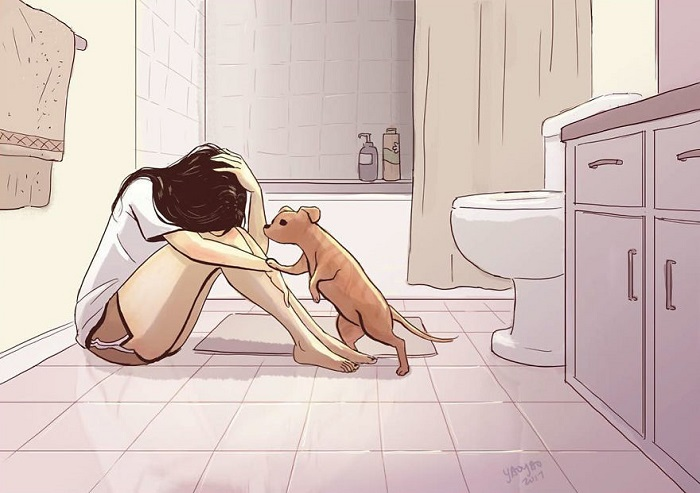 Четвероногий друг всегда сможет утешить, как бы ни было плохо.