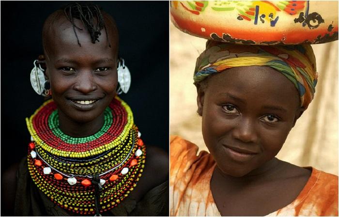 Самобытные портреты жителей Африки.