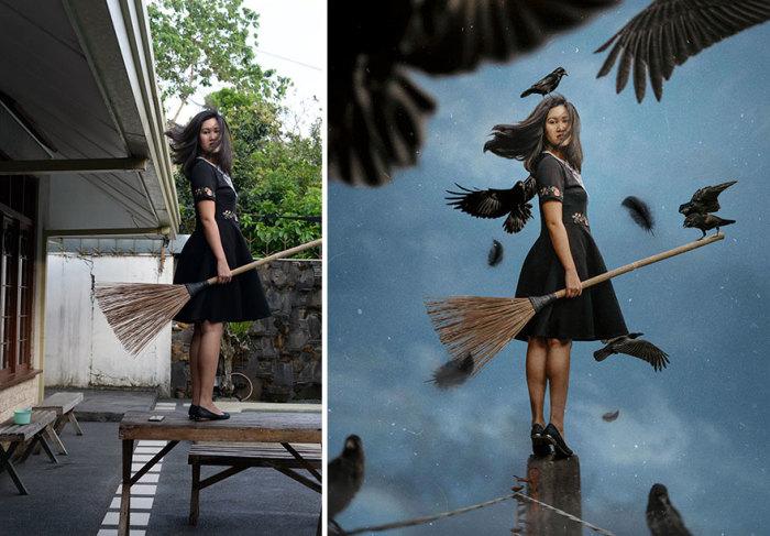 Филиппинская художница Катрина Ю (Katrina Yu) создает сказочные миры из обычных фотографий.