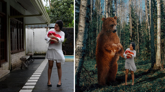 Небольшой подарок к празднику влюбленных от милого бурого медведя.