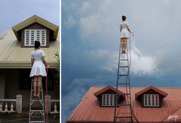 Создание радуг, дождя и облаков - не такая уж простая задача для хрупкой девушки.