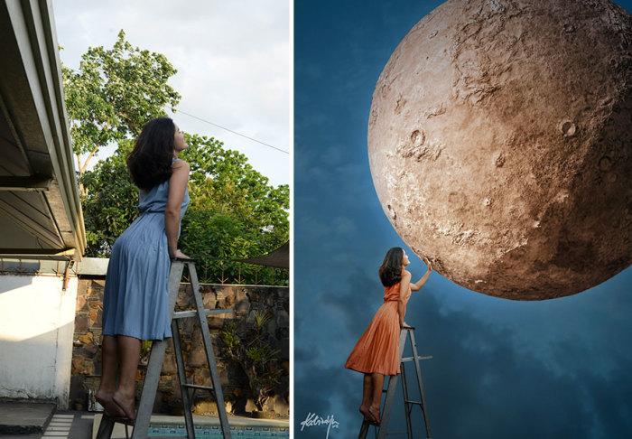 Оказывается, добраться до Луны можно с помощью обычной лестницы!