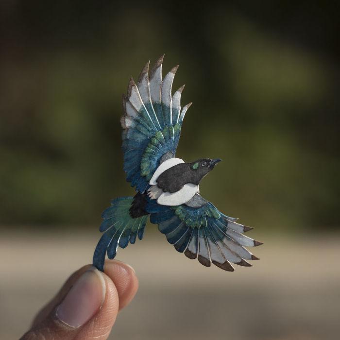 Удивительная бумажная птица.