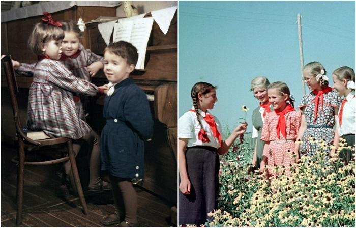 Цветные фотографии советского Минска 1950-х годов.