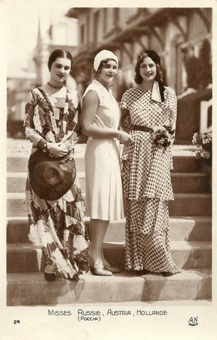 Мисс Россия, Австрия и Голландия на улицах Парижа.