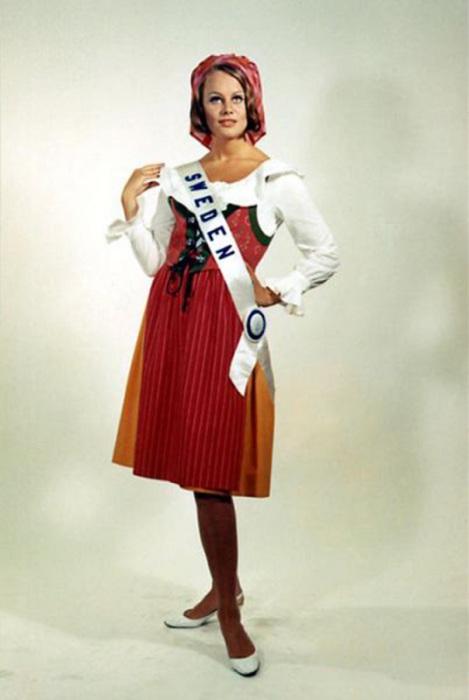 Вторая победительница конкурса «Мисс Вселенная 1966» из Швеции.