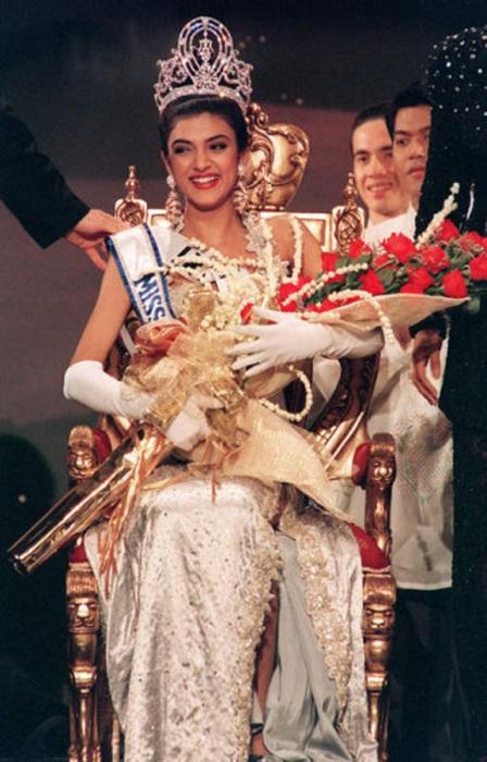 Первая индианка получившая титул «Мисс Вселенная 1994».