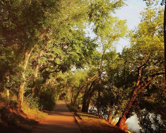 Прогулочная аллея на берегу водоёма. Фотограф Уэйн Грир.