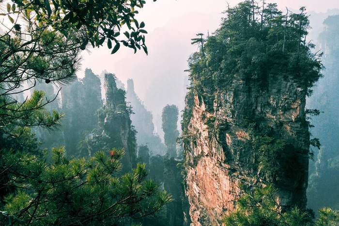 Самое главное туристическое место в национальном парке Чжанцзяцзе. Фотограф Йохан Шоме.