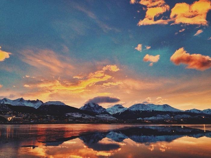 Завораживающая красота багряного неба. Фотограф Хорхе Мартин Покай.