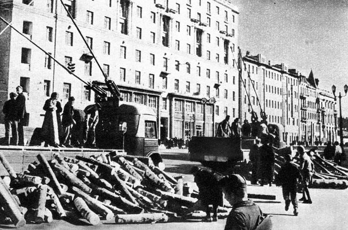 Улица Горького у Белорусского вокзала.