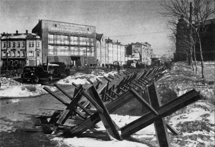 Укрепления и баррикады на Красной Пресне.