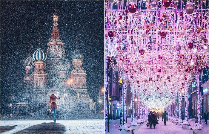 Зимняя сказка пришедшая на улицы Москвы.