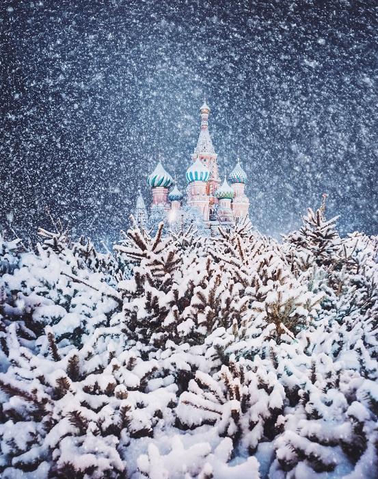 Волшебный кадр сказочной зимы.