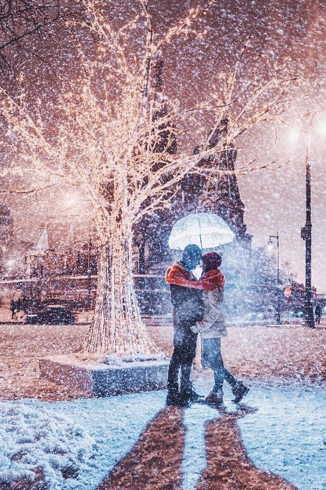 Зимний вечер – пора влюбленности.