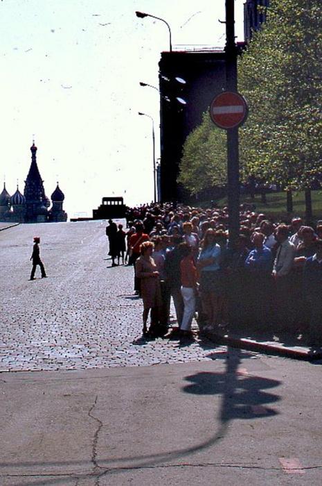 Первомайские демонстрации на Красной площади.