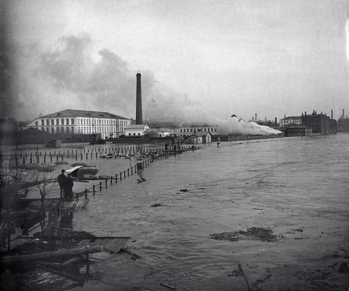 Во время сильнейшего наводнения в 1908