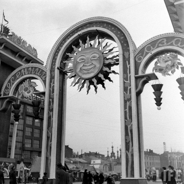 Вход в центральный рынок Москвы, 1947 г.