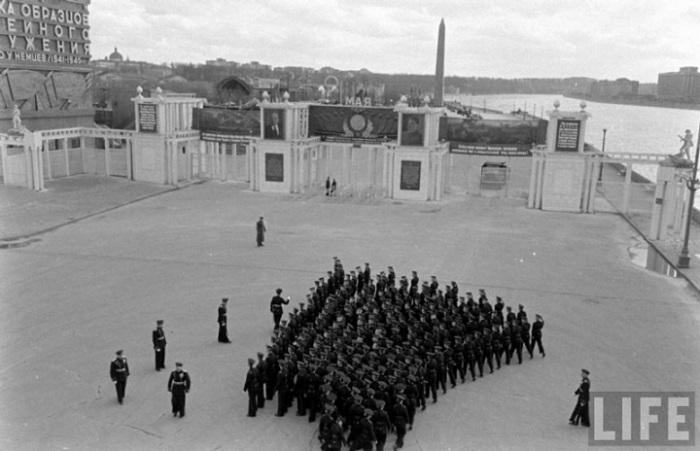 Репетиция парада в Москве, 1947 г.