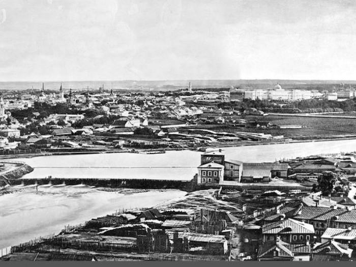 Вид на Москву, 1867 год.