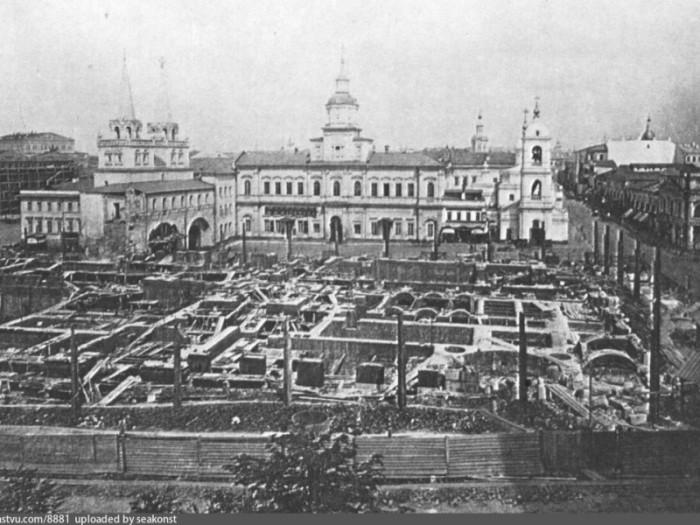 Вид из Кремлёвского Арсенала, 1875 год.