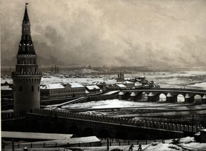 Снимок, сделанный методом дагерротипии Леребуром в 1841 году.