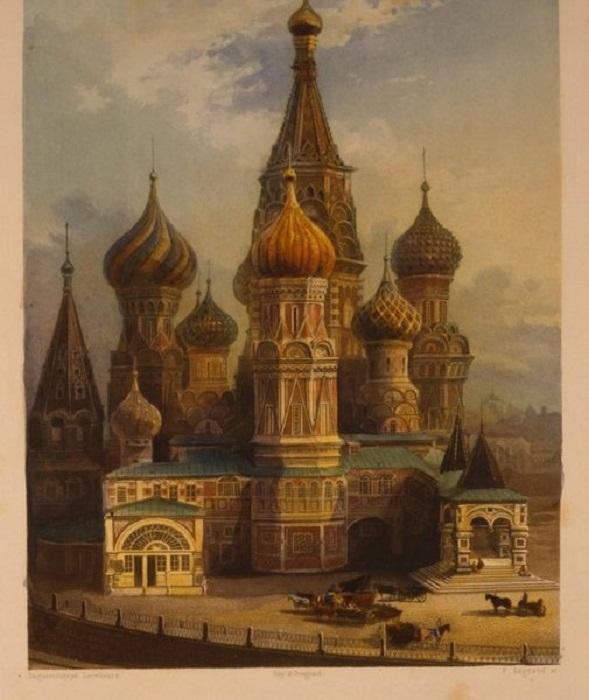 Первый известный снимок храма.