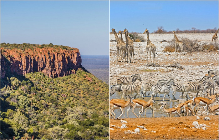 Самые красивые и живописные места юго-западной части Африки.