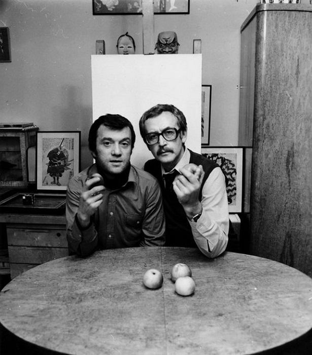 Самоэль Кацев и Василий Ливанов. 1983 год.