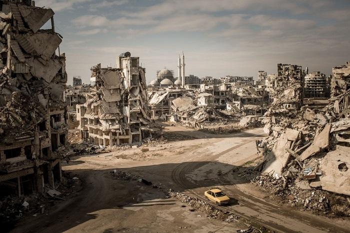 3-е место в категории «Места» занял фотограф Кристиан Вернер (Christian Werner), запечатлевший вид на руины района Халидия.
