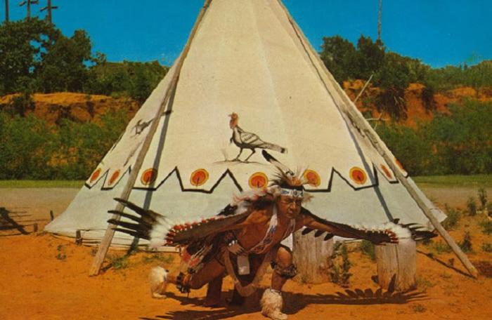 Ритуальный индейский танец орла.