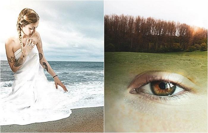 Игра с текстурами и цветами Моника Карвальо обнаруживает сходство между фотографиями.