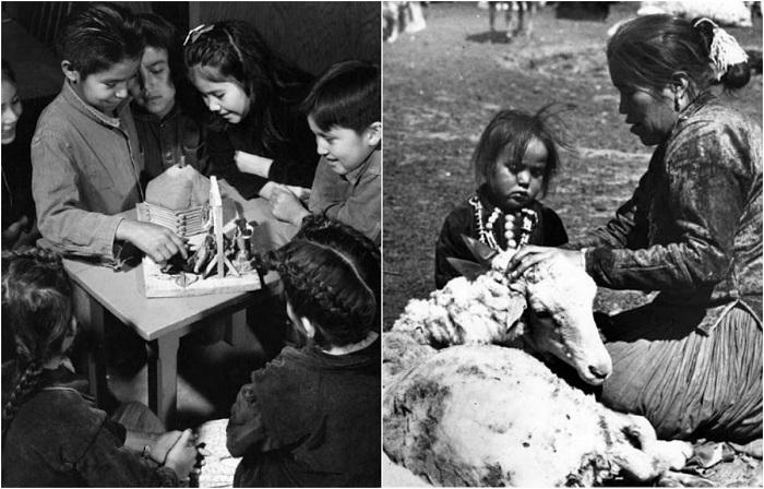 Повседневная жизнь индейцев Навахо в 1940-х годах в объективе Джона Коллиера.