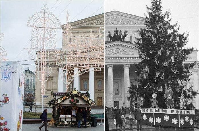 Москва сейчас и в прошлые эпохи.