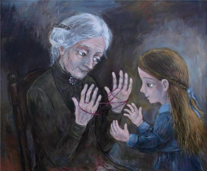 Логическая игра с бабушкой.