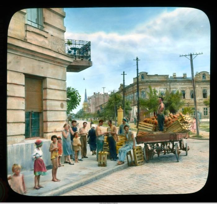 Хлебная тележка, доставляющая продовольствие в Старый город.