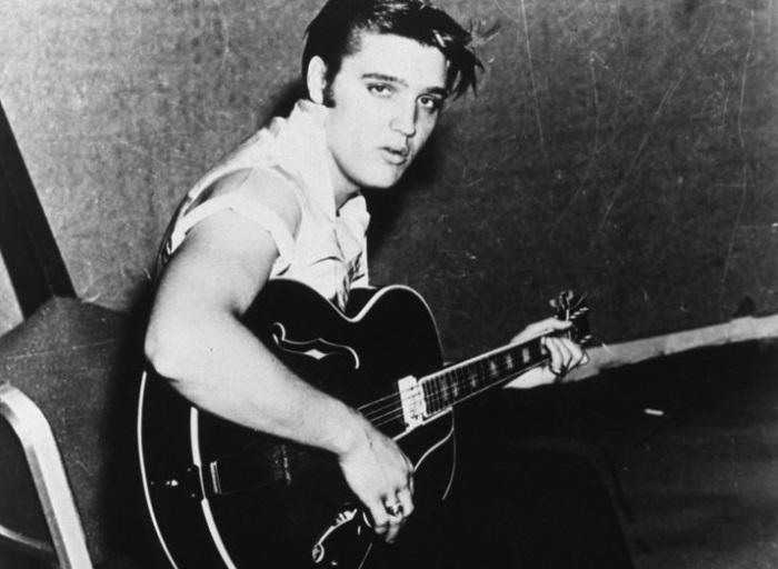 На своей первой сессии звукозаписи, когда ему был 21 год.