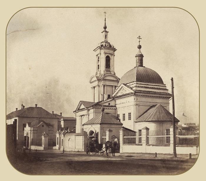 Вид на Спасо-Преображенскую церковь в 1863 году.