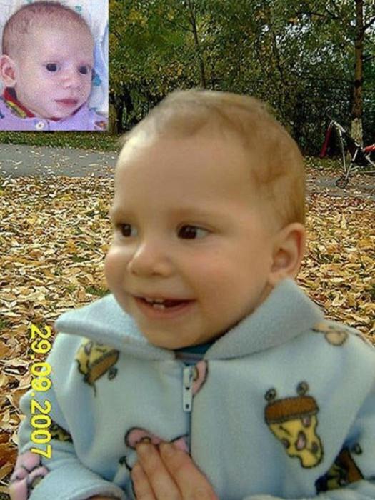 В Доме ребёнка его звали Димой, а теперь в родном доме его зовут Дементий или Дёмушка, Дёма. Мальчишка в новой семье много смеётся, начал ходить, и потихоньку набирает вес.