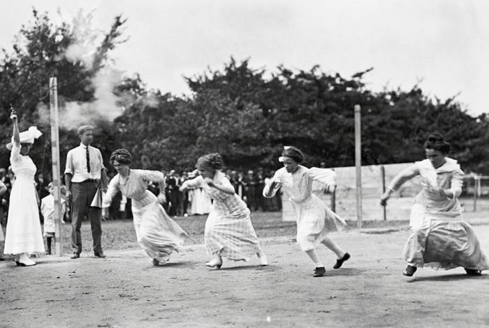Женские спортивные соревнования. Мичиган, Боб-Ло Айленд, 1911 год.