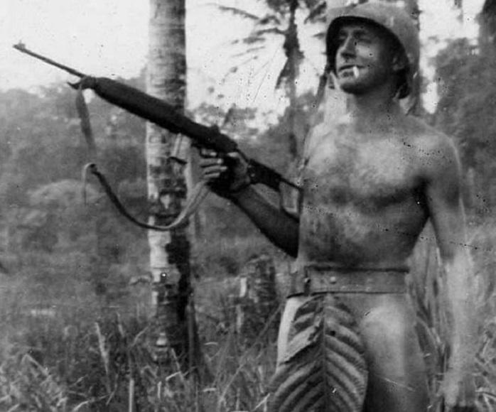 Морская пехота на острове в Тихом океане. 1941 - 1945 года.