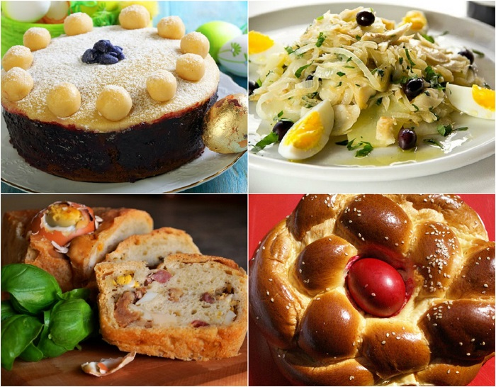 Традиционные пасхальные блюда.