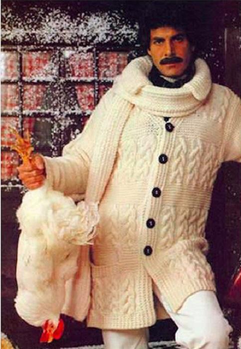 В 70-х такой кардиган считался последним писком моды.