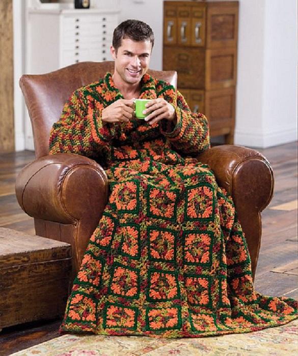 В тренде были даже специальные одеяла и халаты для мужчин.